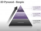 2d Pyramid Simple PowerPoint Presentation Slides