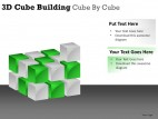3d Cube Building Cube By Cube PowerPoint Presentation Slides