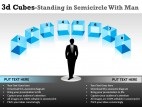 3d Cubes In Semicircle 2 PowerPoint Presentation Slides