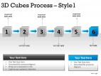 3d Cubes Process Style 1 PowerPoint Presentation Slides