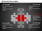 3d Puzzle Pieces Misc PowerPoint Presentation Slides