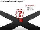 3d Thinking Man Style 1 PowerPoint Presentation Slides