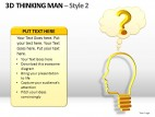 3d Thinking Man Style 2 PowerPoint Presentation Slides