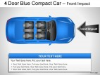 4 Door Blue Car Top View PowerPoint Presentation Slides