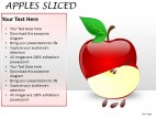 Apples Sliced PowerPoint Presentation Slides