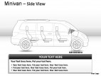 Blue Minivan Side View PowerPoint Presentation Slides