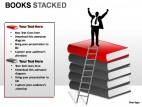 Books Stacked PowerPoint Presentation Slides