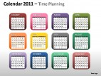 Calendar 2011 Time Planning PowerPoint Presentation Slides