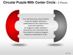 Circular Puzzle With Center 2 And 3 PowerPoint Presentation Slides