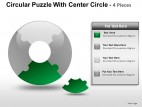 Circular Puzzle With Center 4 PowerPoint Presentation Slides