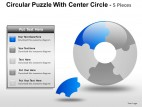 Circular Puzzle With Center 5 PowerPoint Presentation Slides