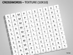 Crosswords Texture PowerPoint Presentation Slides