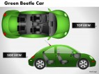 Green Beetle Car Top View PowerPoint Presentation Slides