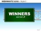 Highway Signs Style 1 PowerPoint Presentation Slides
