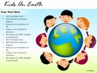 Kids On Earth PowerPoint Presentation Slides