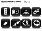 Networking Icons Style 2 PowerPoint Presentation Slides