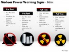 Nuclear Power Warning Signs Misc PowerPoint Presentation Slides