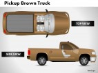 Pickup Brown Truck Top View PowerPoint Presentation Slides
