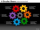 PowerPoint Template Business Circular Gears Ppt Slides