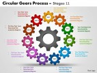 PowerPoint Template Business Circular Gears Process Ppt Slides