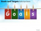 PowerPoint Template Diagram Goals And Targets Ppt Slides