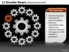 PowerPoint Template Education Circular Gears Ppt Slides