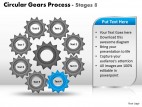 PowerPoint Template Global Circular Gears Process Ppt Slides
