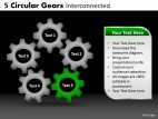 PowerPoint Template Graphic Circular Gears Ppt Slides