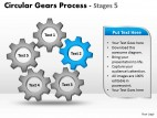 PowerPoint Template Leadership Circular Gears Process Ppt Slides
