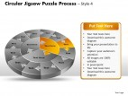 PowerPoint Template Leadership Circular Jigsaw Puzzle Process Ppt Slides