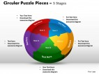 PowerPoint Template Marketing Circular Puzzle Ppt Slides