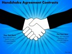 PowerPoint Template Success Handshake Agreement Ppt Slides