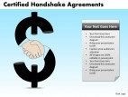 PowerPoint Template Teamwork Handshake Agreements Ppt Slides