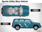 Sports Utility Blue Vehicle Side View PowerPoint Presentation Slides