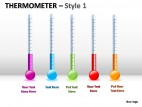Thermometer Style 1 PowerPoint Presentation Slides
