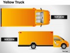 Yellow Truck Side View PowerPoint Presentation Slides