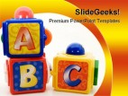 Abc Blocks Education PowerPoint Backgrounds And Templates 1210