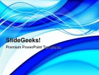 Abstract Blue Background PowerPoint Template 0910