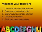 Alphabets01 Education PowerPoint Template 1010