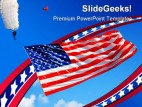 America Flag Holidays PowerPoint Template 1010