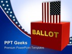 American Ballot Box Government PowerPoint Templates And PowerPoint Backgrounds 0411