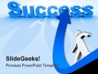Arrow Towards Success PowerPoint Background And Template 1210