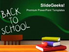 to school with books education powerpoint backgrounds and