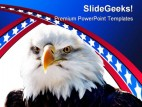 Bald Eagle Americana PowerPoint Template 1010