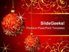 Balls Abstract Christmas PowerPoint Template 0610
