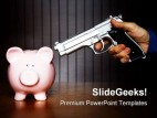 Bank Robbery Finance PowerPoint Backgrounds And Templates 1210