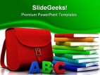 Blocks Abc And Books Education PowerPoint Template 1110