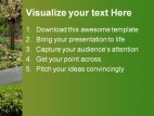 Blossom Path Nature PowerPoint Template 1010