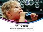 Blowing Bubbles Children PowerPoint Templates And PowerPoint Backgrounds 0411