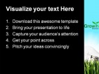 Bulb In The Grass Future PowerPoint Template 1110